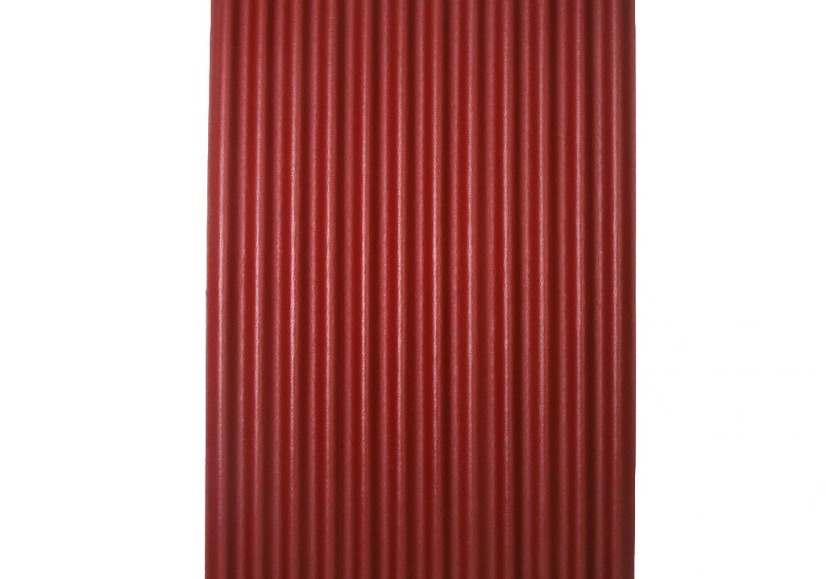 Ondura-12 corrugated roofing panel in Red