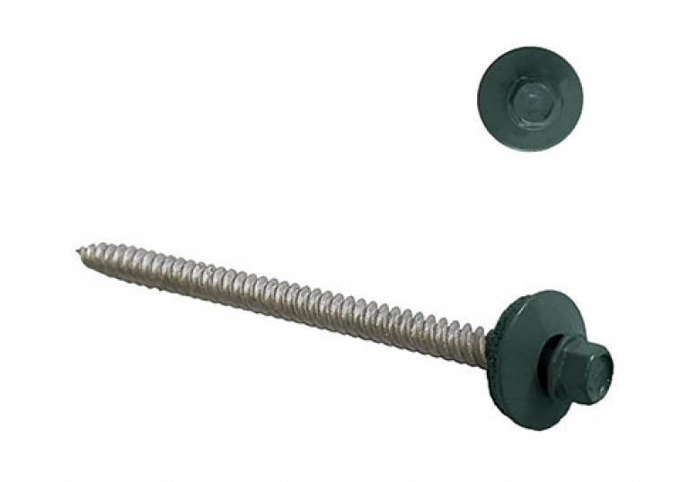 ONDURA hex base galvanized screws - green